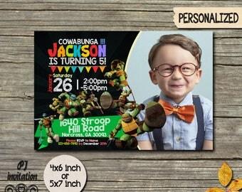 Ninja Turtle Invitation / Ninja Turtle Birthday Invitation / Ninja Turtle Party / Ninja Turtle Birthday / Ninja Invitation / Ninja TurtleSS