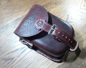 Wet Moulded Leather Pouch