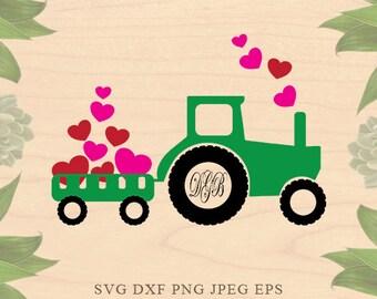 valentine monogram SVG valentine SVG files Boy valentine svg Farm svg Farmhouse svg EPS Dxf Cricut downloads Cricut files Silhouette files