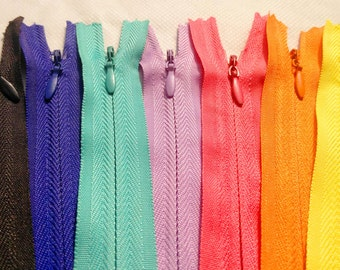 KSF 9 Inch 20 pcs Invisible Zippers ~  #3 Skirt & Dress  ~ Assortment of Colors