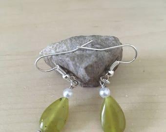 Jade and pearl dangles