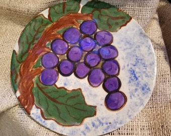 Small pottery plate