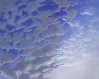 Grey Clouds at Dawn Fine Art Signed Giclee Print Of Original Landscape Painting