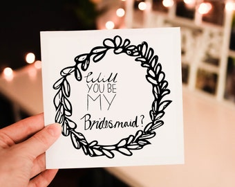 Bridal Party Request Cards