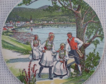 Stavangerflint wandbordje: 9 Vossebunad