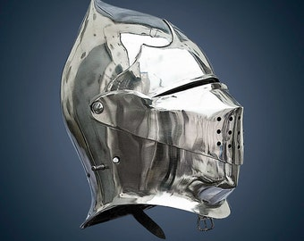 Armet closed helmet SCA LARP fantasy helmet medieval helmet LARP helm sca helm sca armor larp armor medieval armor fantasy armor sca helmet