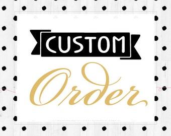 Custom crochet item