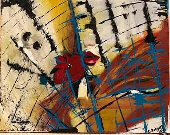 "Original Acrylic Painting ""Spider"""