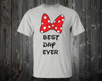 Best day Ever Shirt  Minnie Shirt, Disney Vacation shirt, Mickey head shirt, Minnie head shirt, Disney shirt