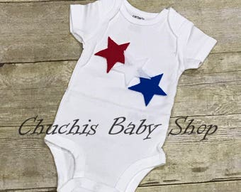 4th of july Baby onesie fourth of july bodysuits holiday independence day memorial day flag day patriotic fireworks heart hat uncle sam tie