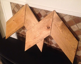 Wood Chevron Wall Art. Modern Wood Arrows