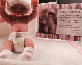 Full Body Silicone Baby Girl Alana.