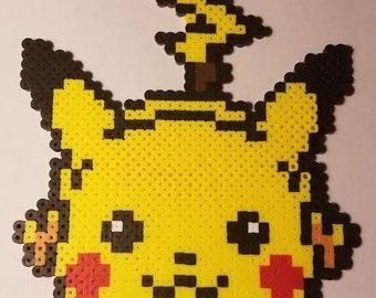 Running Pikachu Pokemon Perler