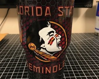 Florida State Seminoles Custom Yeti 20 30 RTIC Cup Fully Wrapped
