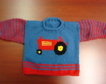 Tractor Pullover Sweater