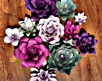 Wall paper flower back drop