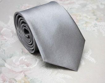 Mens Silver Grey necktie Mens Ties Men's necktie Wedding Necktie for Men Camellucci