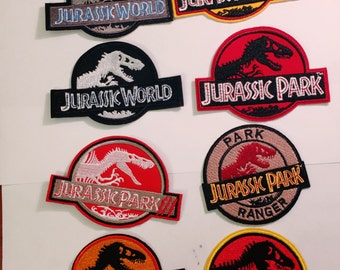 B/Jurassic world/Jurassic Park/ dinosaur / iron on/sew on/embroidery patch