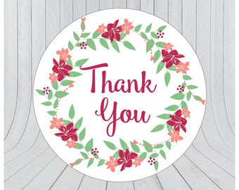 24 x Thank you stickers, thank you labels, Etsy packaging stickers, packaging stickers, packaging labels, wedding stickers, 065
