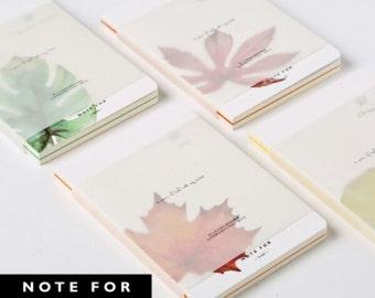 NOTE FOR - Leaf- blank notebook, Minimalist blank Notebook, Journal, Planner, Journal Insert, Planner Insert