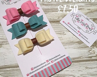 Pastel delights hair bows
