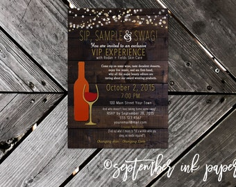Rodan + Fields Sip Sample and Swag Party Invitation