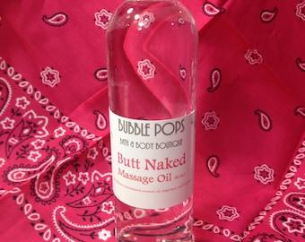 Butt Naked Massage Oil, 8 oz.