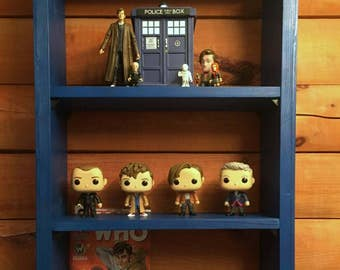 Shelf TARDIS-TARDIS, Shelf, bookshelf, bookcase, Doctor Who, furniture, nerd, geek, police box