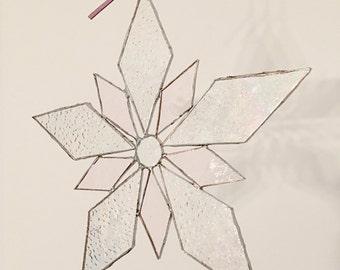 Suncatcher / stained glass / Eisblume / Sonnenfänger / irisierendes Glas