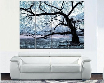 Big Grey Tree - split canvas print
