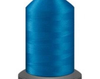 marine blue thread, glide trilobal polyester no 40, Tex 27, sewing thread, quilting thread, 1000m cone