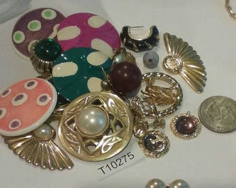 Vintage, Old stock, Jewelry lot, repair, Repurpose, Salvage, lot, finding lot,  T10275