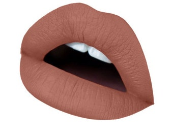 mocha liquid matte lipstick waterproof vegan