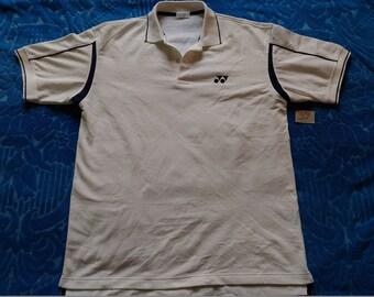 Vintage YONEX JASPO Embroidered Logo/White Colour/Sportswear Polos Shirts