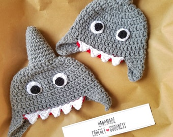 Shark Hat, Kid's Hat, Baby Shark Hat, Baby Hat, Shark Photo Prop, Gray Hat, Kid's Shark Hat