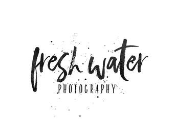 Photography Logo and Watermarks / Ink Splatter Logo / Beauty Logo / Photographer Logo / Calligraphy Logo / Makeup Artist Logo / Splash Logo