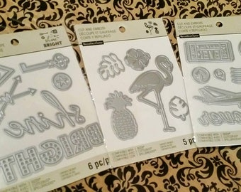 3 pk. Bundle by Recollections : Set of 3 ~Travel Journaling~ Cutting Templates - Sizzix, Spellbinder, Cricut Compatible