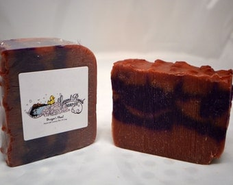 Dragon's Blood Luxury Olive Oil Soap, luxury soap, dragons blood soap, dragons blood, resin soap. dragons blood scent, handmade soap