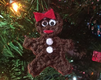 Gingerbread Lady Crochet Ornament