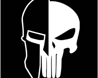 Punisher Skull American Patriot Police window sticker decal Spartan Military