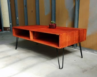 Mid Century Coffee Table W/ Hairpin Legs
