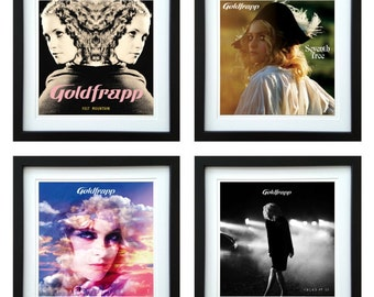 Goldfrapp - Framed Album Art - Set of 4 Images