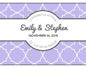 24 Personalized Wedding Water bottle labels