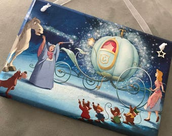 Disney inspired 'Cinderella shall go to the ball' hanging plaque