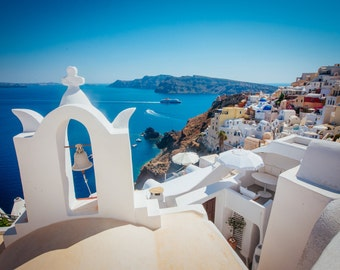 Santorini Photography, View over Oia