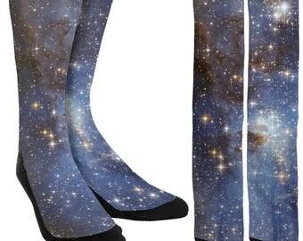 Universe Galaxy Crew Socks - Galaxy Socks - Space Socks - Unique Socks - Novelty Socks - Universe Socks - 100% Comfort - FREE Shipping