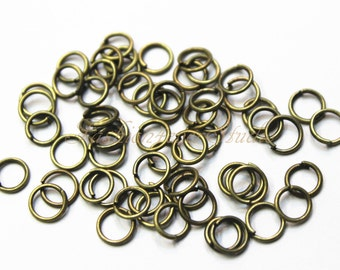 21 gauge Antique Brass Bronze Open Jump Rings, 3mm 5mm 7mm, Brass Findings, Bronze Beads Findings, Beading Suppliers, Jewelry Suppliers