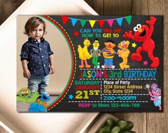 Sesame Street Invitation / Sesame Street Birthday / Sesame Street Birthday Invitation / Sesame Street Party / Sesame Street Party Invitation