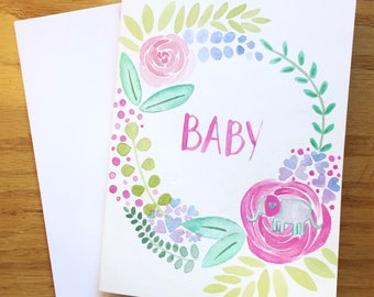 Welcome to the Garden Baby Card, Baby Girl