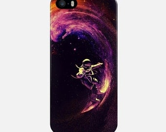 Cosmo Surfing iPhone Case, Phone Case Space, Purple iPhone 6 Case, iPhone 7 Case, iPhone 6 Plus Case, iPhone 5s Case, iPhone 4 Case